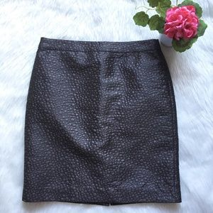J.Crew Textured Gray Pencil Skirt Size 6